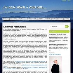 Le blog zen - La justice restaurative