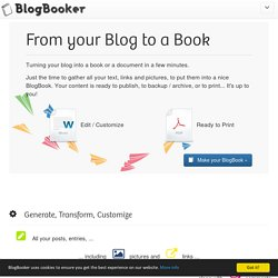 BlogBooker - Blog Book
