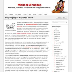 Blogcollege op de Hogeschool Utrecht
