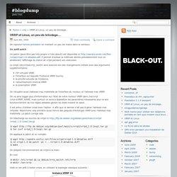 #blogdump » VRRP et Linux, un peu de bricolage…