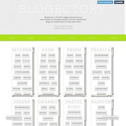 Blogectory - Blog Index
