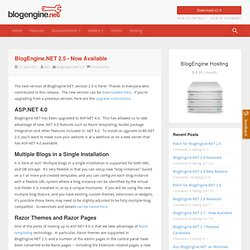 BlogEngine.NET 2.5 - Now Available