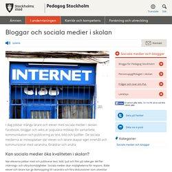 Bloggar och sociala medier i skolan