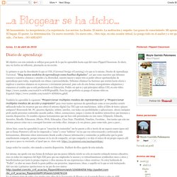 ...a Bloggear se ha dicho...: Diario de aprendizaje