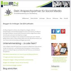 Bloggen für Anfänger: Der B2N-Leitfaden - B2N Social Media