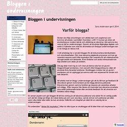 Bloggen i undervisningen