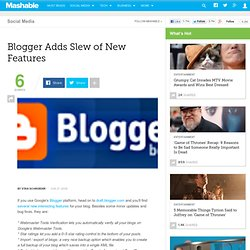 Blogger Adds Slew of New Features