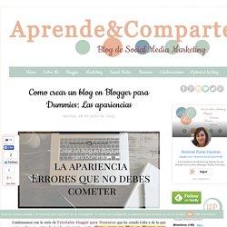 Como crear un blog en Blogger para Dummies: Las apariencias
