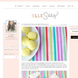 Beauty Blogger in Atlanta: Pineapple Solid Sugar Scrub DIY