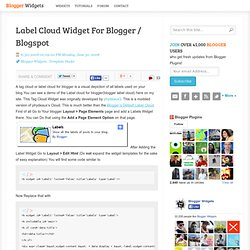 Label Cloud Widget For Blogger / Blogspot