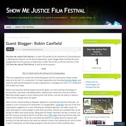 Guest Blogger- Robin Canfield