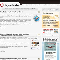 Customize your Blogger Template