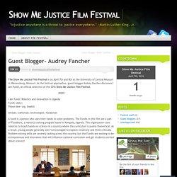 Guest Blogger- Audrey Fancher