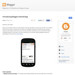 Introducing Blogger Android App