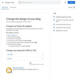 Outil de création de modèles de Blogger - Centre d'aide Blogger
