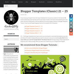 Blogger Templates (Classic) 21 – 25