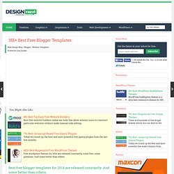 250+ Best Free Blogger Templates