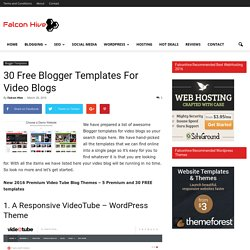 30 Free Blogger Templates For Video Blogs