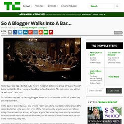 So A Blogger Walks Into A Bar…