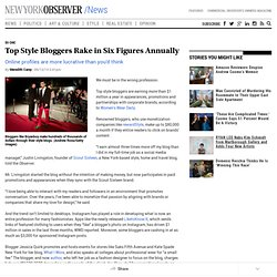 Top Style Bloggers Rake in Six Figures Annually