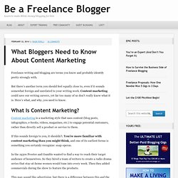 Content Marketing for bloggers