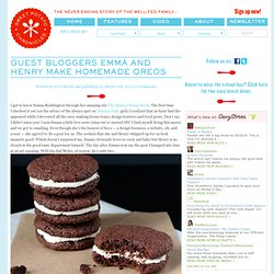 Guest Bloggers Emma and Henry make homemade Oreos - Sweet Potato Chronicles