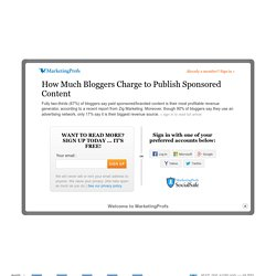 How Much Bloggers Charge to Publish Sponsored Content