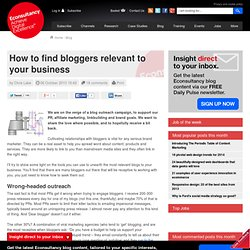 How to find bloggers relevant to your business