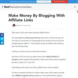 Make Money By Blogging With Affiliate Links