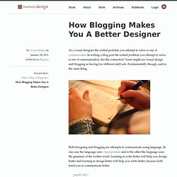 How Blogging Makes You A Better Designer