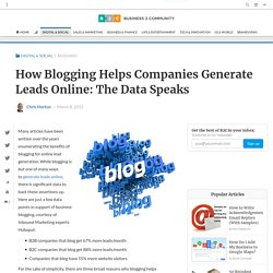 How Blogging Helps Companies Generate Leads Online: The Data Speaks