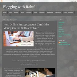 How Online Entrepreneurs Can Make Money Online With a Website