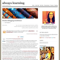 Student Blogging Guidelines