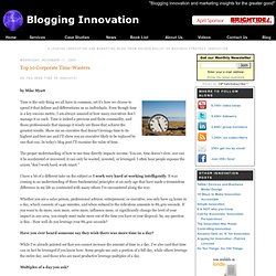 Blogging Innovation: Top 10 Corporate Time-Wasters - Latest inno