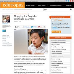 Blogging for English-Language Learners
