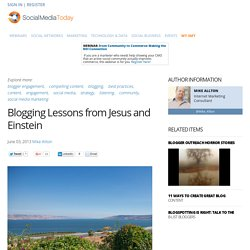 Blogging Best Practices from Jesus and Albert Einstein