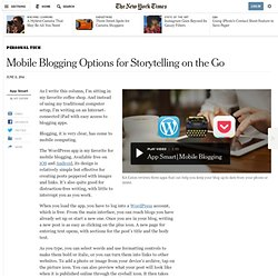 Mobile Blogging Options Simplify Storytelling on the Go