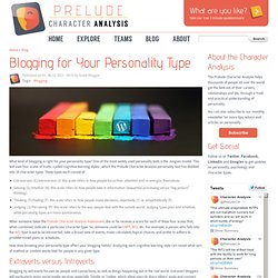 Blogging for Your Personality Type