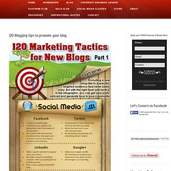 120 Blogging tips to promote your blog Social Media Mamma