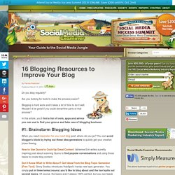 16 Blogging Resources to Improve Your Blog