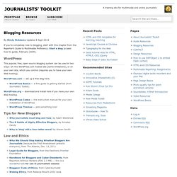 Blogging Resources - Journalists' Toolkit