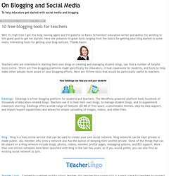 10 free blogging tools for teachers