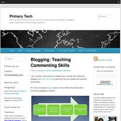 Blogging: Teaching Commenting Skills
