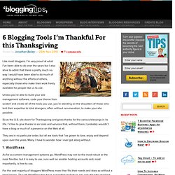 6 Blogging Tools I'm Thankful For this Thanksgiving