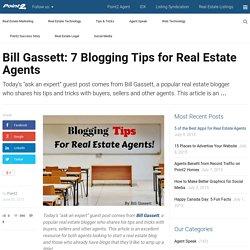7 Blogging Tips for Real Estate Agents