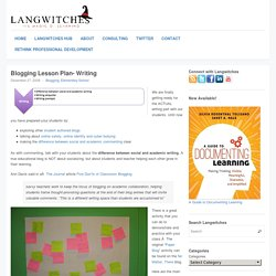 Silvia Tolisano- Langwitches Blog