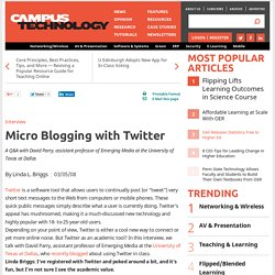 Micro Blogging with Twitter