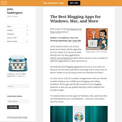 The Best Blogging Apps for Windows, Mac, and More