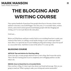 The Blogging and Writing Course - Mark Manson