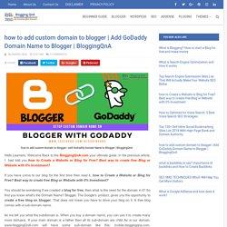 BloggingQnA - Blogging QnA- Blogging Questions and Answer